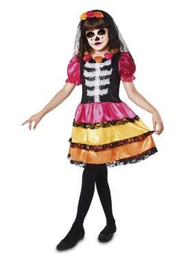 Disfraz de Catrina Esqueleto para niña