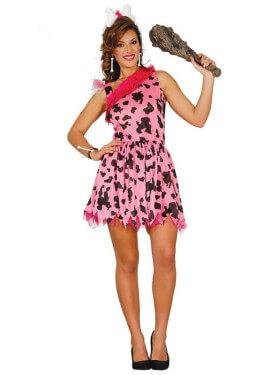 Disfraz de Cavernícola rosa para mujer