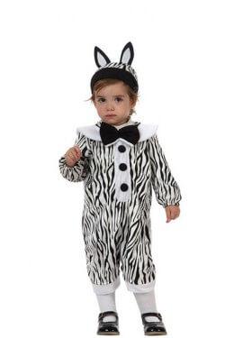 Costume zebra per bambini dai 6 ai 12 mesi