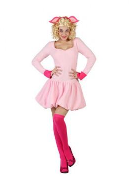 Disfraz de Cerdita Rosa para mujer