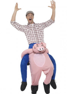 Disfraz de Cerdo a hombros para adultos