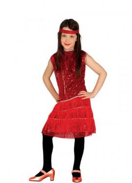 Disfraz de Charlestón para rojo para niña