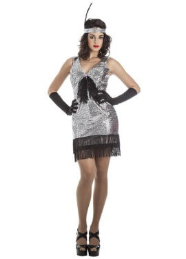 Costumed'argentocharlestonper donna