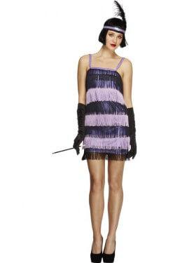 Costume viola charleston per donna