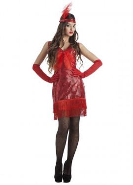 Costume rosso charleston per donna