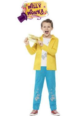 Disfraz de Charlie Bucket de la Fábrica de Chocolate de Roald Dahl para niño