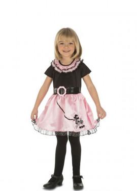Disfraz de Chica años 50-60 para niña