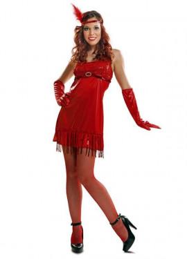 Disfraz de Chica de los Años 20 rojo