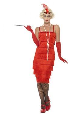 Disfraz de Chica de los Años 20 rojo para mujer