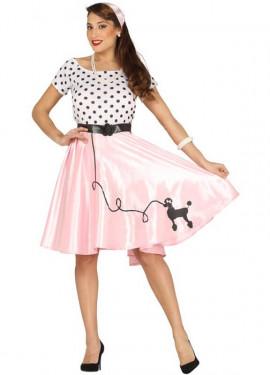 Disfraz de Chica de los Años 50 con Caniche para mujer