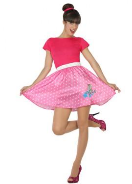 Disfraz de Chica de los Años 50 rosa para mujer