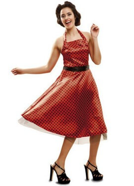Disfraz de Chica Pin up de los Años 50 para mujer