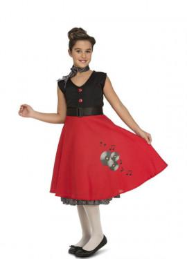 Disfraz de Chica Ye-Ye años 50-60 para niña