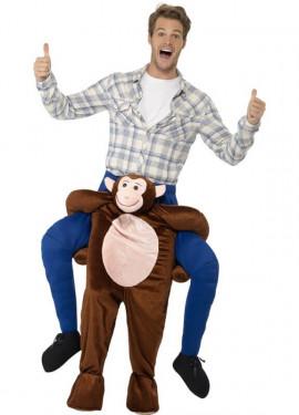 Disfraz de Chimpancé a hombros para adultos