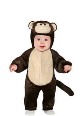 Disfraz de Chimpancé Marrón para bebé