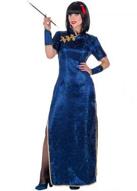 Costume da Cinese blu per donna