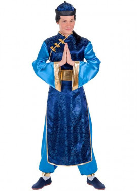 Costume da cinese blu per uomo