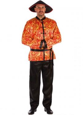 Disfraz de Chino Rojo con Estampado para hombre