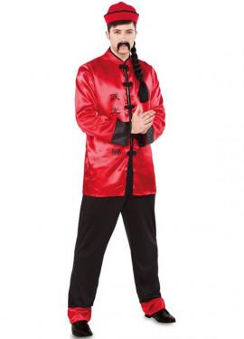 Disfraz de Chino rojo para hombre