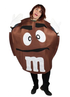 Disfraz de Chocolatina marrón para adultos