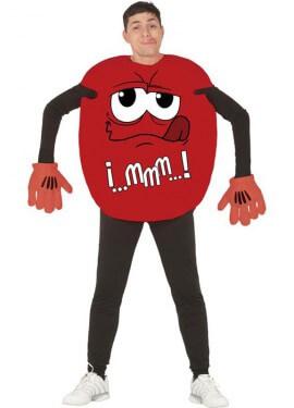 Disfraz de Chocolatina roja para hombre
