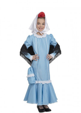 Disfraz de Chulapa Azul para niña y bebé