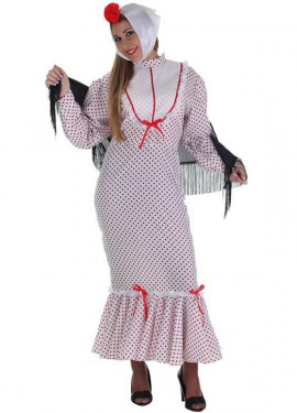 Disfraz de Chulapa coral madrileña para mujer
