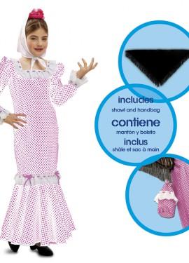 Disfraz chulapa o madrileña blanco para niñas