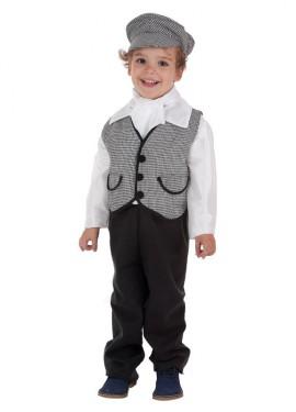 Disfraz de Chulapo madrileño con chaleco para niño