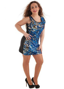 Disfraz de Cielo con Estrellas de Lentejuelas para mujer
