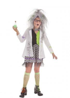 Disfraz de Científica Loca para niña