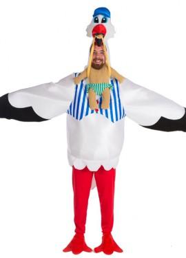 Disfraz de Cigüeña para Hombre