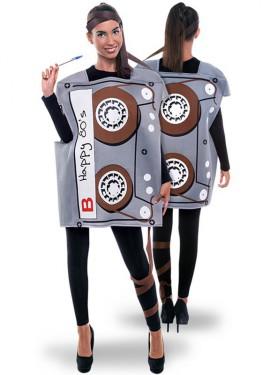 Disfraz de Cinta de Cassette de los 80 para adultos