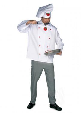 Déguisement de Cuisinier ou Chef Tomates pour homme