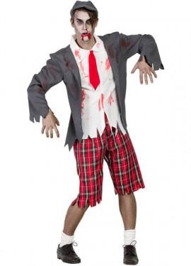 Disfraz de Colegial zombie para hombre