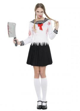 Disfraz de Colegiala Japo Zombie para mujer