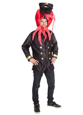Disfraz de Comandante Bogavante SIN pantalones para adulto