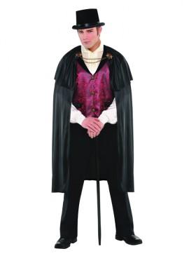 Disfraz de Conde gótico para hombres en talla M-L para Halloween