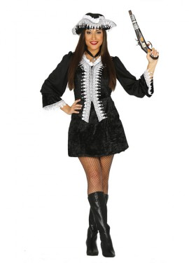 Déguisement Pirate Corsaire Noire pour femme, plusieurs tailles