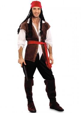 Costume da corsaro con gilet per uomo