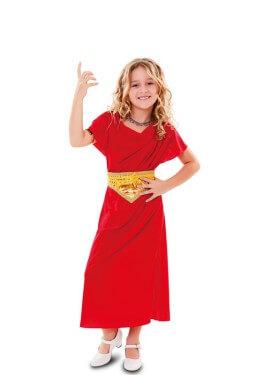 Disfraz de Cortesana Romana para niña