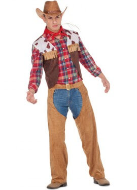 Disfraz de Cowboy con Flecos para hombre