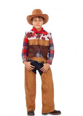 Disfraz de Cowboy con Flecos para niño