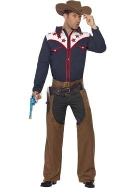 Disfraz de Cowboy de Rodeo para hombre