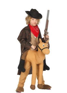 Costume da Cowboy montando a cavallo per bambini