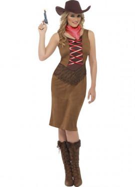Disfraz de Cowgirl con Corpiño para mujer