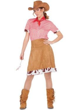 Disfraz de Cowgirl Marrón para mujer