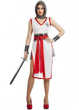 Disfraz de Cruzada Blanco para mujer