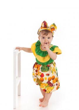 Disfraz de Cubana con Frutas para bebé