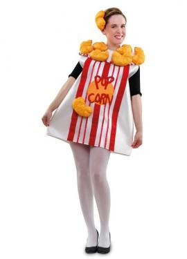 Disfraz de cubo de Palomitas o Pop Corn para Mujer